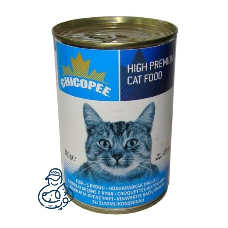 کنسرو گربه چیکوپی با طعم گوشت ماهی