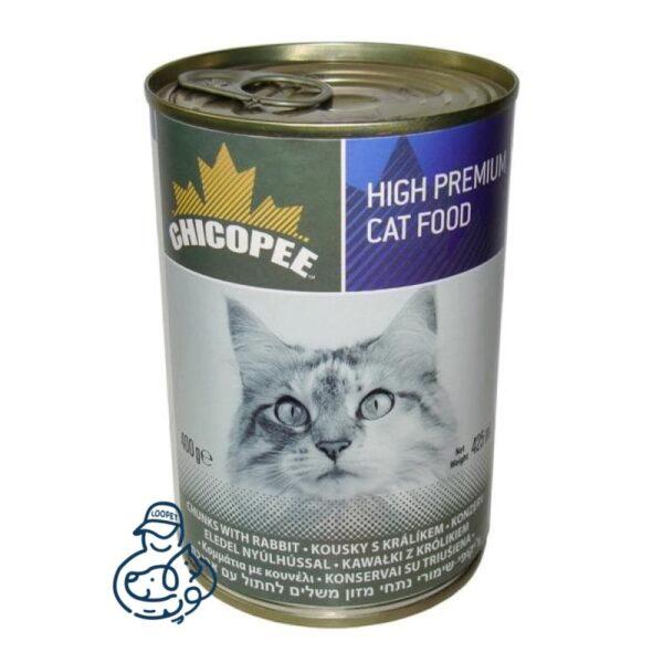 کنسرو گربه چیکوپی با طعم گوشت خرگوش