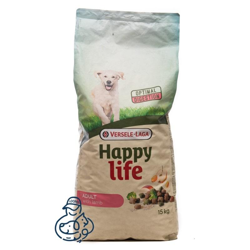 غذای خشک سگ هپی لایف طعم گوشت گاو خالص