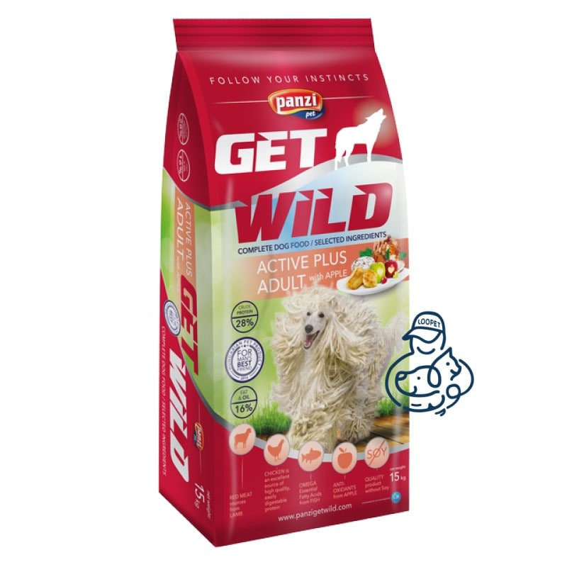 غذای خشک سگ پانزی گت وایلد اکتیو پلاس مرغ و ماهی
