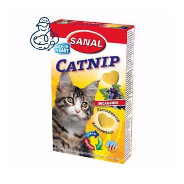قرص تشویقی گربه سانال ویتامینه مدل کتنیپ