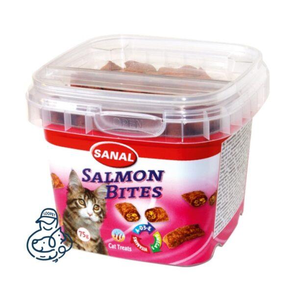 تشویقی گربه سانال ویتامینه با طعم ماهی سالمون