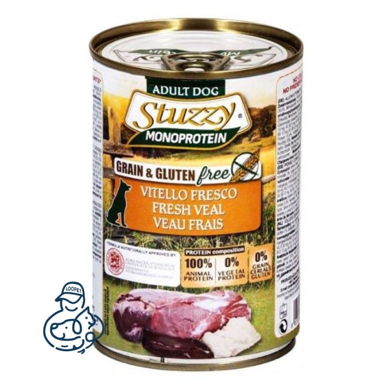 stuzzy monoprotein dog canned food 3 min