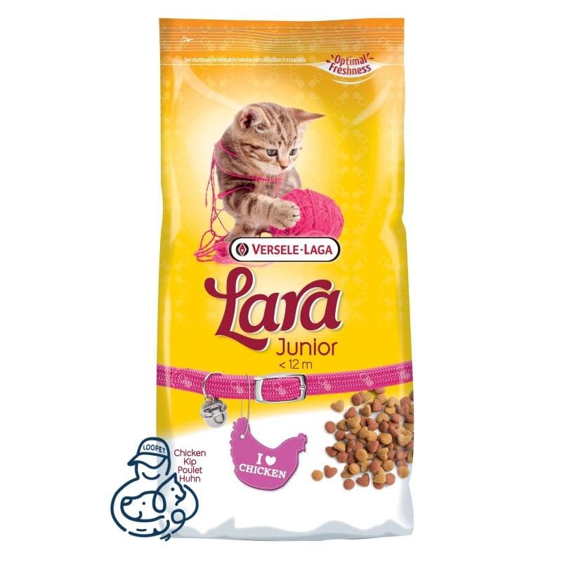 غذای خشک بچه گربه لارا طعم مرغ